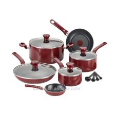 Antihaft-Aluminium-Kochgeschirr-Set mit roter Farbe