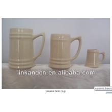 Haonai 2014 Multi-capacity white ceramic beer stein mugs