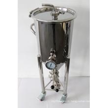 Fertilizador cônico de aço inoxidável 30L e tanque de fermentação