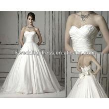 WD1078 clásica corbata escote corazón recolectado en el vestido de boda drapeado vestido de bola de la cintura 2014