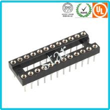 Fábrica personalizada 2,54 mm 24 pinos duplo linha Pin cabeçalho IC soquete