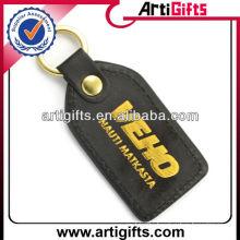 Promotional pu leather keychain with custom logo