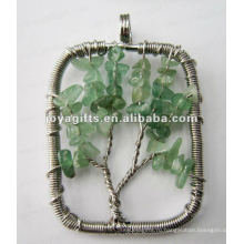 Бусины из зеленого авантюрина из бисера Lucky tree pendant