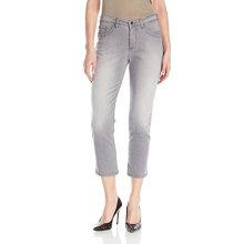 Jeans Spandex Capris en coton pour femmes Gris