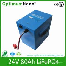 Глубокого цикла 24В 80ач блоки батарей lifepo4