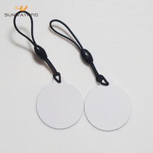 Stampa personalizzata 30mm PVC Materiale RFID Hang Tag