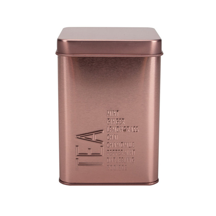 Rose Gold Tea Canister