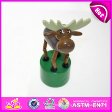 Hot New Product for 2015 Kids Toy Wooden Push Toy, Mini Funny Wooden Toy Children Toy, Colorful Wooden Animal Toy for Baby W06D048