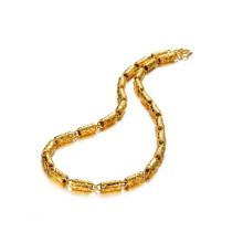 Золото коренастый цепи ожерелье ,индийский ожерелье 18k золото ювелирные изделия
