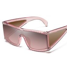Fashion Design Square Plastic Frame Oversized Aviation Sunglasses