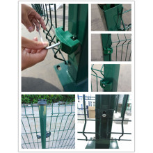 Wire Mesh Fence Panel med Square Post