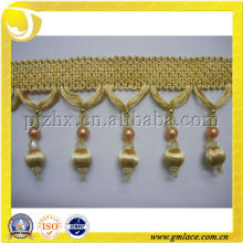 Gold Color for Decoration Curtain/Pillow,Home Textile of Polyester Trimming Fringe