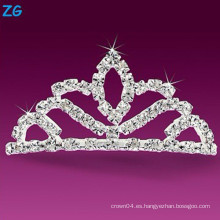 Elegantes peines franceses de cristal, peines de boda de cristal, peine de pelo barata personalizada