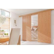 Sólidos de madeira armário porta deslizante, porta da sala de jantar