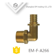 EM-F-A266 Male G thread and circular tooth union brass different diameter pipe fitting