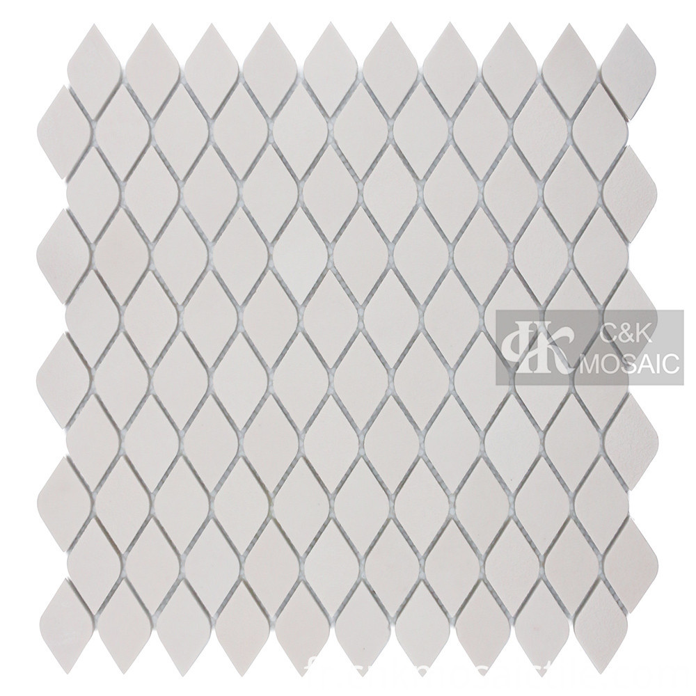 White Glass Mosaic Pool Tiles