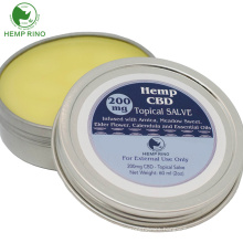 Private label  CBD  infused organic hemp balm for ointment for joints