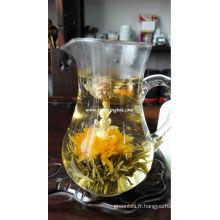 Thé fleurissant spécial avec une fleur unique