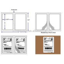 half sheet self adhesive 8.5*11 inch logistics label manufacturer