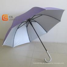 Einfarbigen Haken Griff Golfschirm (YSG017)