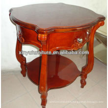 Brown color soild wooden round coffee table C1061