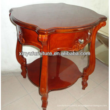 Brown color soild mesa de centro redonda de madera C1061