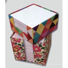 Kleber Notizblock in Papier Tube Box Verpackung