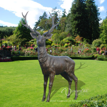 Decoração de jardim Metal Craft Life Size Deer Statue