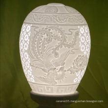 2016 new arrivals romantic table ceramic lamp shade,pure white harback shade