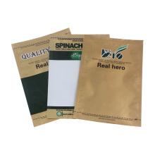 Sacs en plastique de poche de joint latéral de papier d'aluminium trois