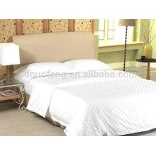 La literie de broderie de coton de discontinue de luxe de 400TC a établi le tissu de toile d'hôtel