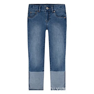Wholesale Child Clothing Soft Boys' Denim Capri Pants