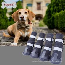 Fournitures chinoises en gros en plein air imperméable à l'eau anti-dérapant chien de dérapage bottes chien grand hiver chaussures chaudes