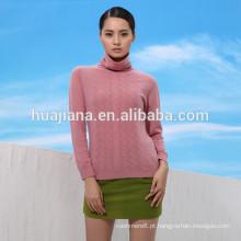 Camisola de gola alta de mulher com design novo 2016
