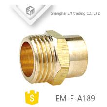EM-F-A189 Conexión de tubo de conexión de manguera de rosca macho de paso doble de latón