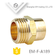 EM-F-A189 Laiton Double passage Raccord fileté mâle