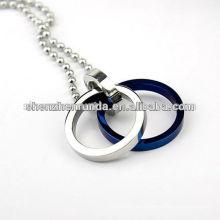 316l Fabricación de la cadena del collar del acero inoxidable de la manera del Dos-lazo
