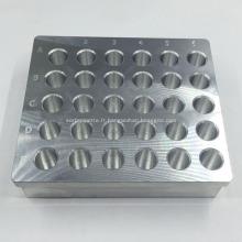 Module de chauffage en aluminium de tube de centrifugeuse de usinage de coutume