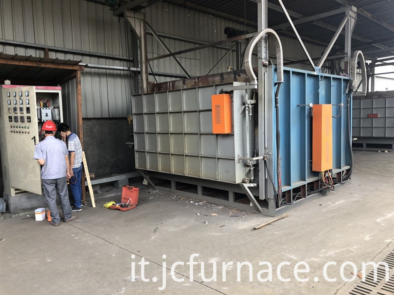 Car type annealing furnace debugging
