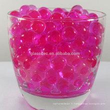 Perles de cristal, boule de sol en cristal, gelée de sol cristallin