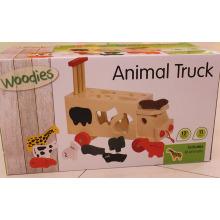 Wooden Animal Shape Sorter Spielzeug LKW