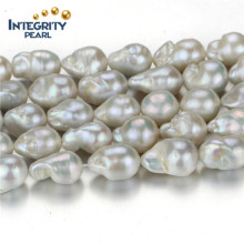 Freshwater Loose Pearl Strand 12mm Grade AA Nucleated Irregular Shape Pearl Strand