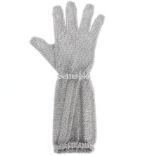 Steel Chainmail Safety Glove met veerriem
