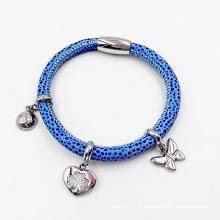 Hot Sell Stingrag Bracelet en cuir avec des charmes sur mesure