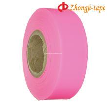 розовый ПВХ маркировки предупреждение ленты