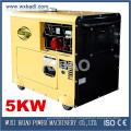 Conjunto de generador diesel silencioso Precio de fábrica de 3 fases KDE6500T3