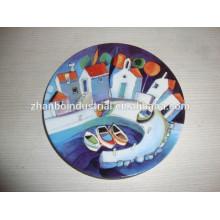 Placa decorativa a granel branco barato da porcelana, placa de impressão