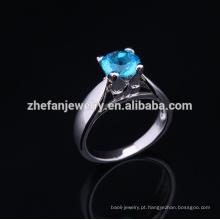 2015 montagens bonitas do anel da prata esterlina do presente de casamento semi