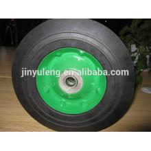 Rueda de goma maciza 10x2.75 para carretilla de ruedas de servicio / máquina pesada