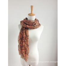 New design colorful printed scarf/shawl